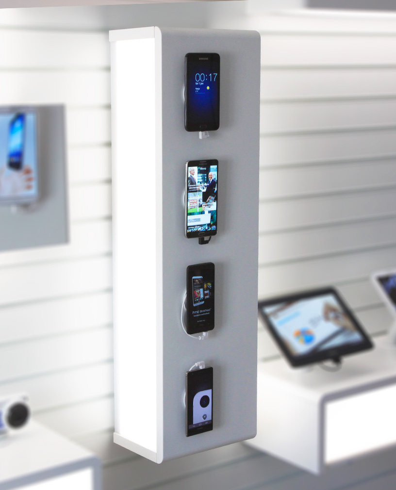Module for displaying smartphones vertically