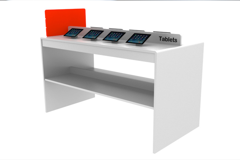 Tablets displayed on a Play Table
