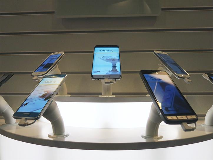 Mobiles on display